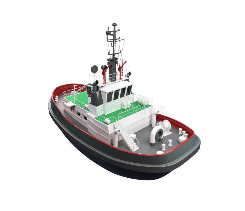 Vista delantera del bote pequeño stock de ilustración