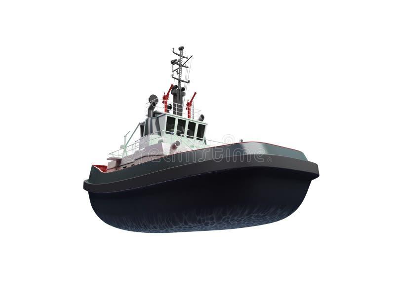 Vista delantera del bote pequeño libre illustration