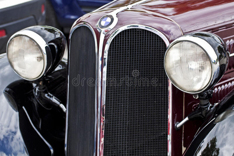 Vista delantera del coche antiguo de BMW 315, detalle imágenes de archivo libres de regalías
