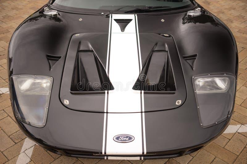Vista delantera del coche de deportes de Ford GT fotos de archivo