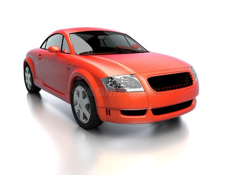 Vista delantera del coche rojo moderno ilustración del vector