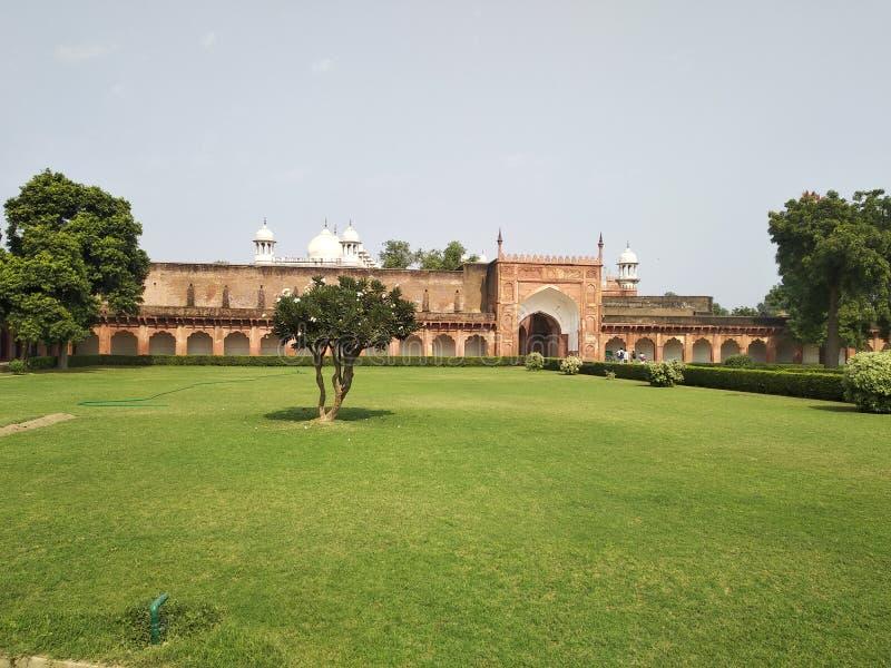 Vista delantera del fuerte de Agra imagen de archivo libre de regalías