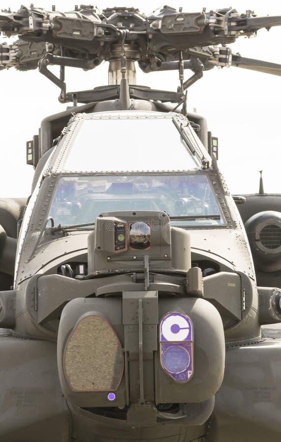 Vista delantera del helicóptero de ataque fotos de archivo libres de regalías