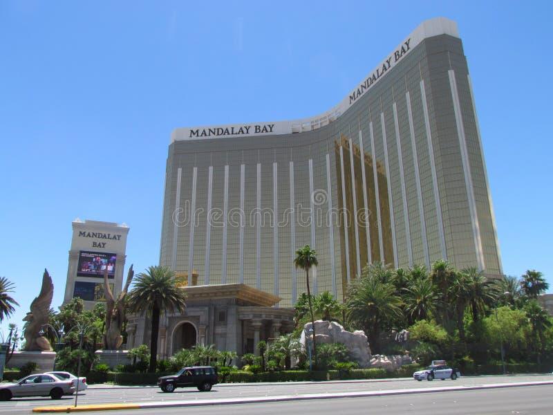 Vista delantera del hotel de la bahía de Mandalay en Las Vegas foto de archivo