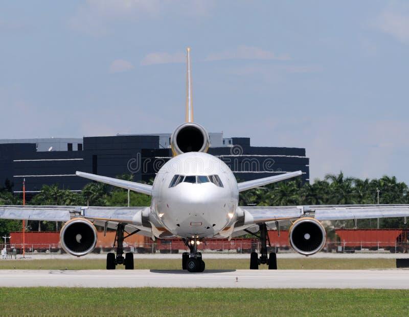 Vista delantera del jet pesado imágenes de archivo libres de regalías