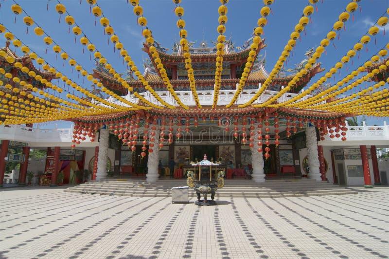 Vista delantera del templo de Thean Hou imagen de archivo