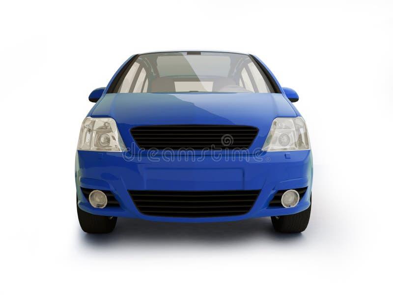 Vista delantera del vehículo azul multiusos ilustración del vector