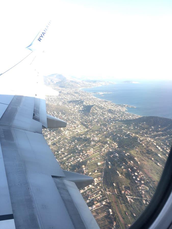 Vista dell'aeroplano immagini stock libere da diritti