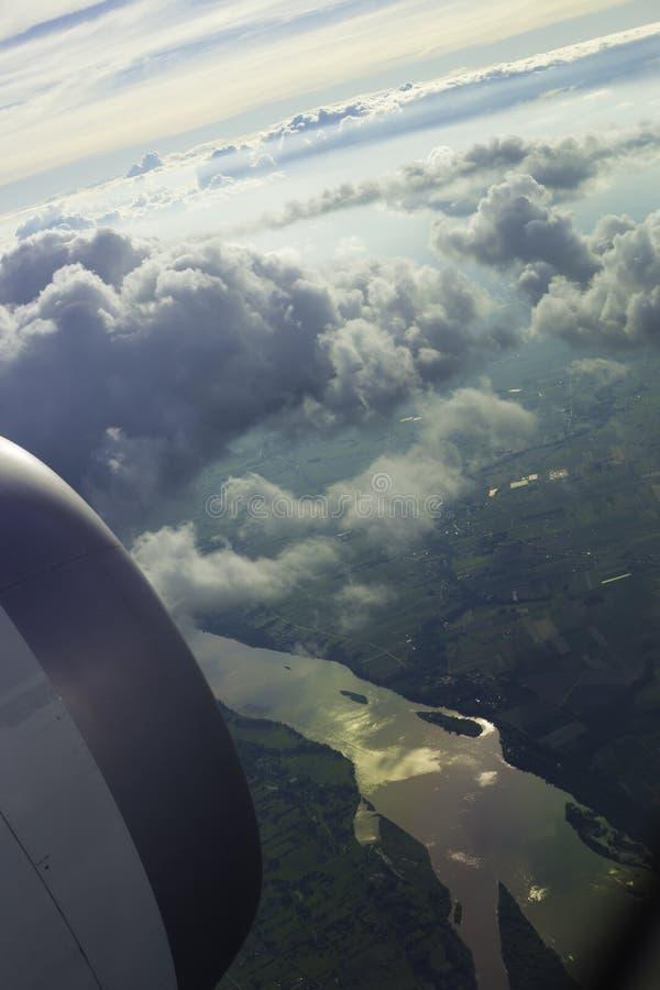 Vista dell'aeroplano paesaggio immagine stock