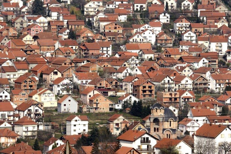 Vista dell'alloggiamento della città fotografia stock