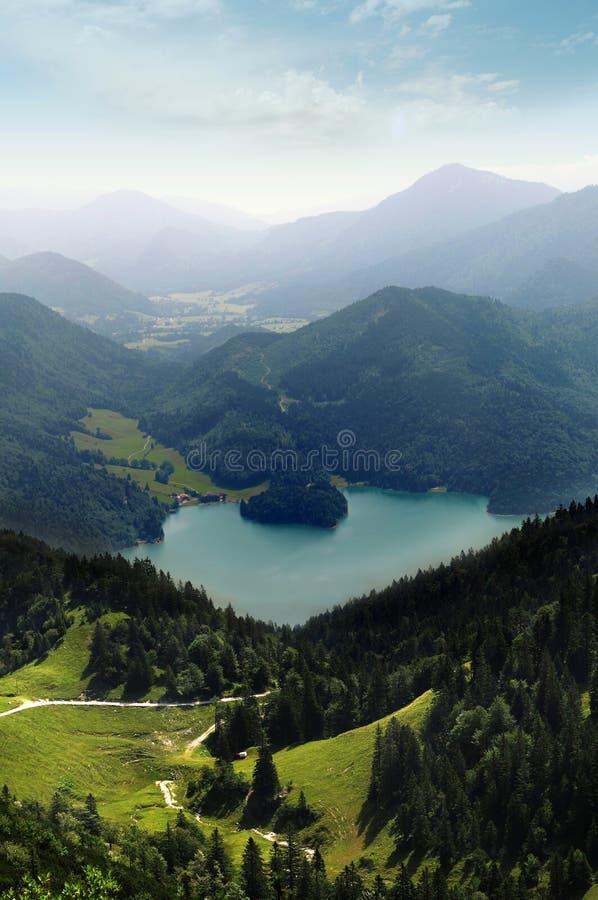 Vista dell'alpe fotografia stock libera da diritti