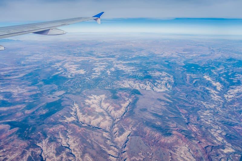 Vista dell'Arizona del Grand Canyon da un aeroplano fotografie stock