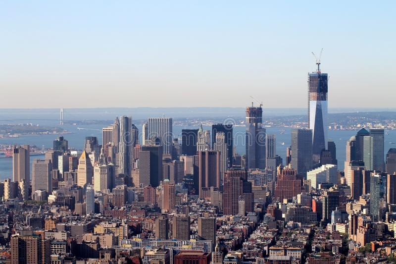 Vista dell'Empire State Building di New York Manhattan, New York City, U.S.A., America fotografie stock