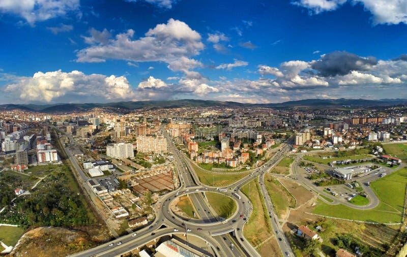 Vista dell'entrata di Prishtina immagini stock