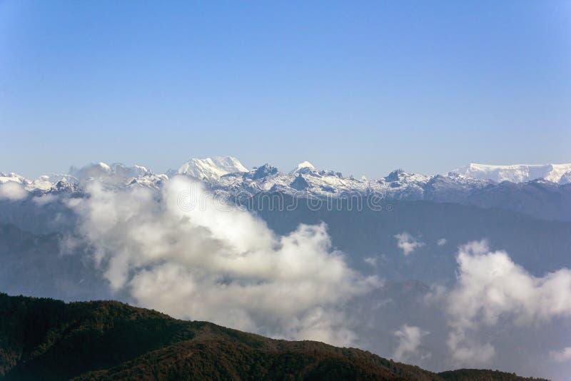 Vista dell'Himalaya fotografia stock
