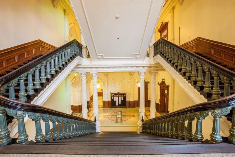Vista dell'interno di Texas State Capitol situato in Austin del centro immagine stock libera da diritti