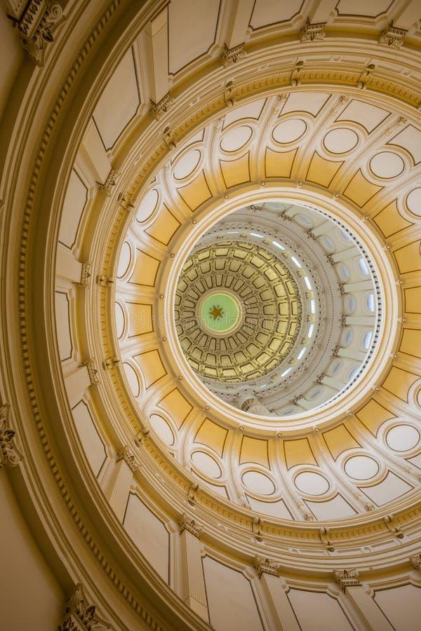 Vista dell'interno di Texas State Capitol situato nel downt immagini stock