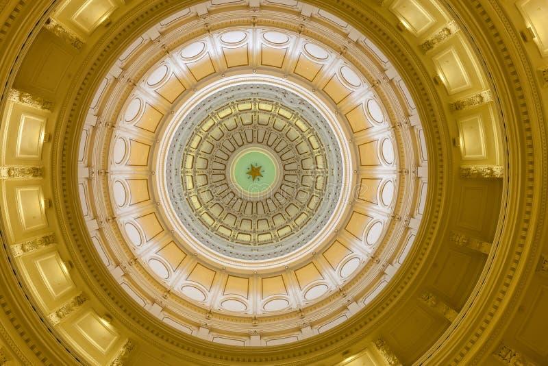 Vista dell'interno di Texas State Capitol situato nel downt fotografia stock