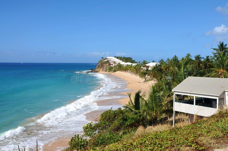 Vista dell'isola Antigua fotografie stock libere da diritti