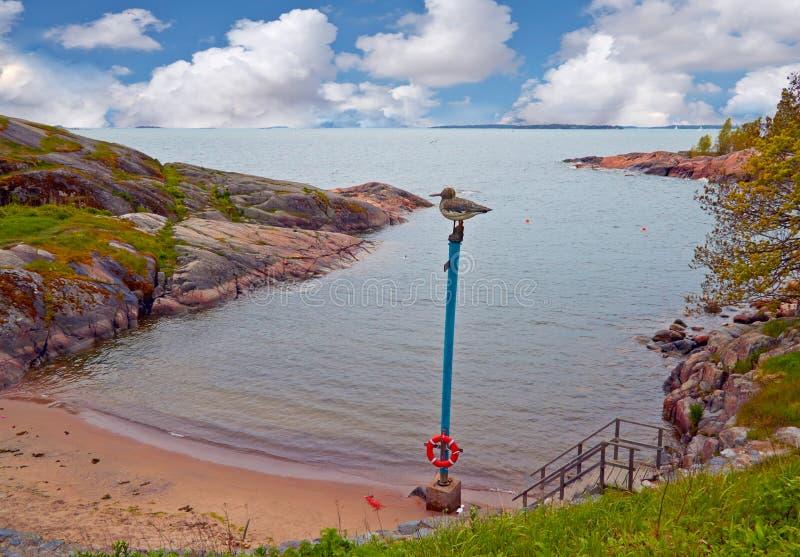 Vista dell'isola in finlandia fotografia stock libera da diritti