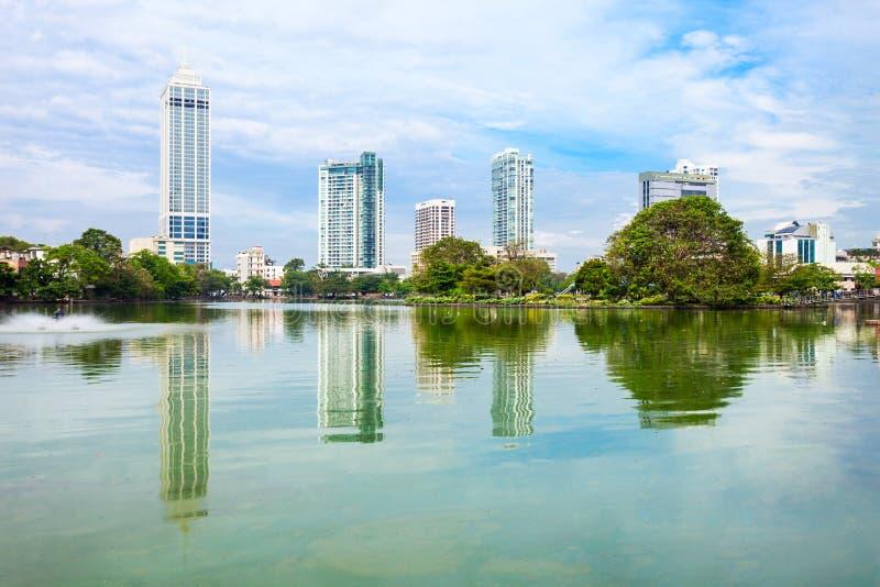 Vista dell'orizzonte della città di Colombo fotografia stock libera da diritti