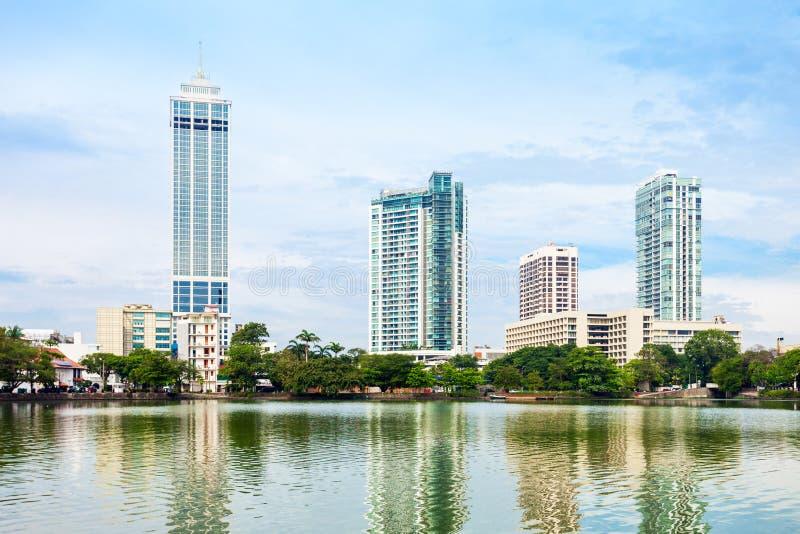 Vista dell'orizzonte della città di Colombo immagini stock libere da diritti