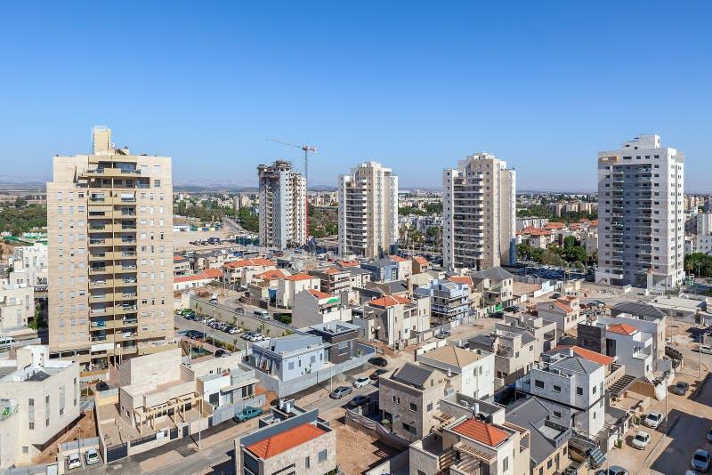 Vista dell'orizzonte di Kiryat Gat immagine stock libera da diritti
