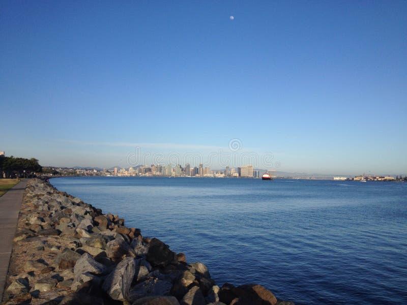 Vista dell'orizzonte di San Diego fotografia stock