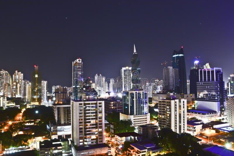 Vista dell'orizzonte moderno di Panamá fotografie stock libere da diritti