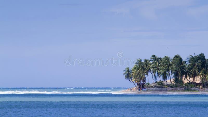 Vista della baia di Arugam, Sri Lanka fotografia stock libera da diritti