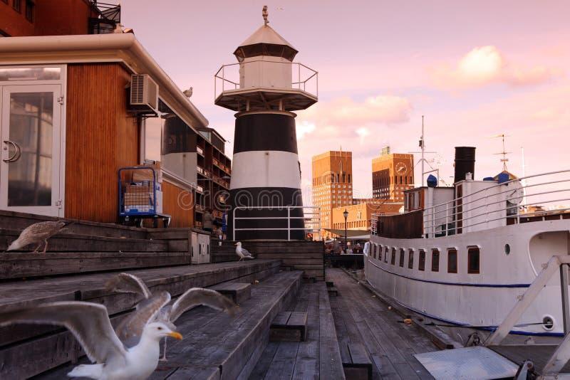 Vista della baia di Oslo fotografie stock