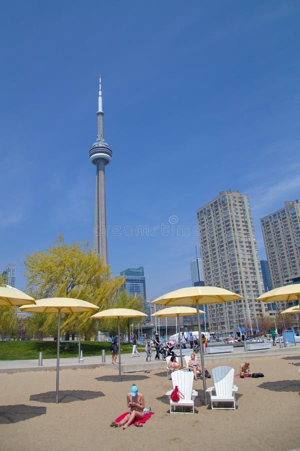 Vista della banchina del harbourfront a Toronto del centro fotografia stock