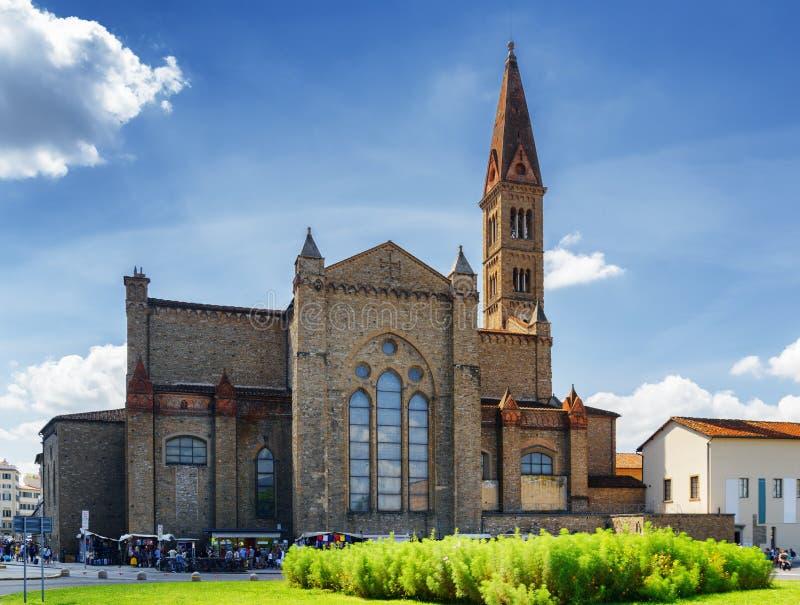 Vista della basilica di Santa Maria Novella a Firenze, Italia immagine stock