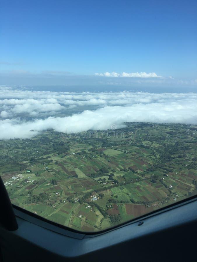 Vista della cabina di pilotaggio di strato della nuvola bassa immagini stock libere da diritti