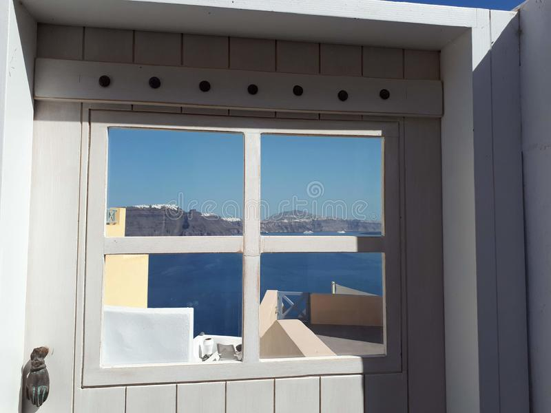 Vista della caldera - Santorini fotografia stock libera da diritti
