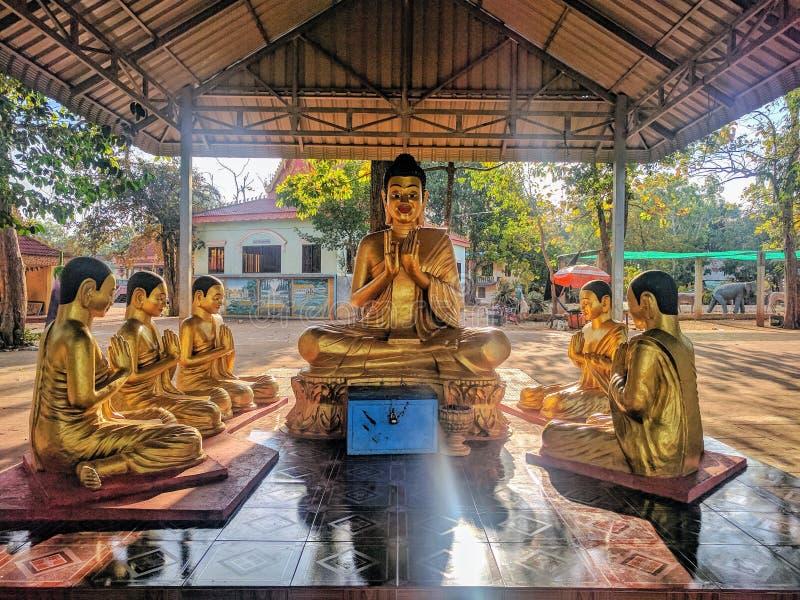 Vista della campagna di Sihanoukville, Cambogia immagine stock libera da diritti