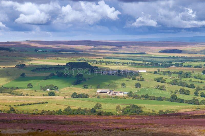 Vista della campagna inglese fotografie stock