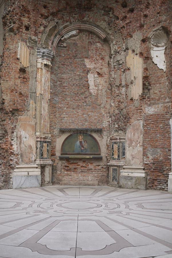 Vista della cappella di Miracoli di dei di Madonna fotografia stock