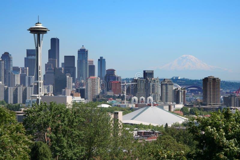 Vista della cartolina di Seattle immagini stock libere da diritti