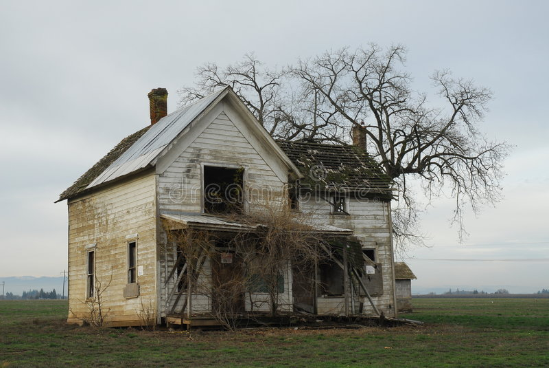 Vista della casa dell'azienda agricola fotografie stock