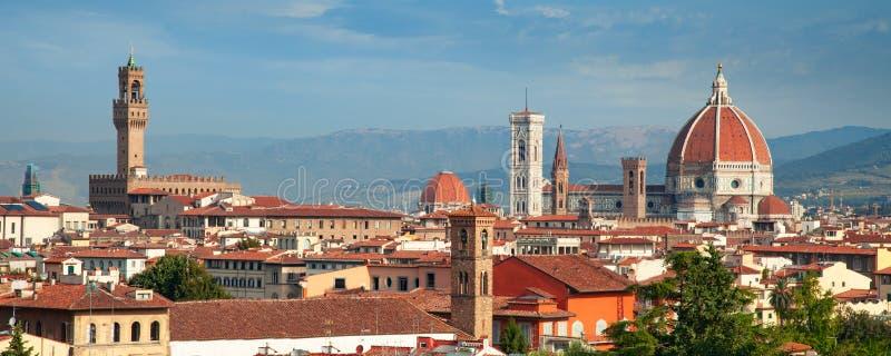 Vista della cattedrale di Firenze Duomo immagine stock
