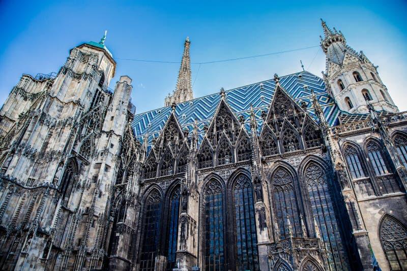Vista della cattedrale di St Stephen fotografia stock libera da diritti