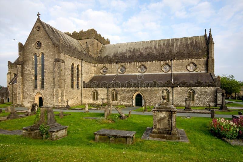 Vista della cattedrale della st Canices in Kilkenny in Irlanda fotografie stock libere da diritti