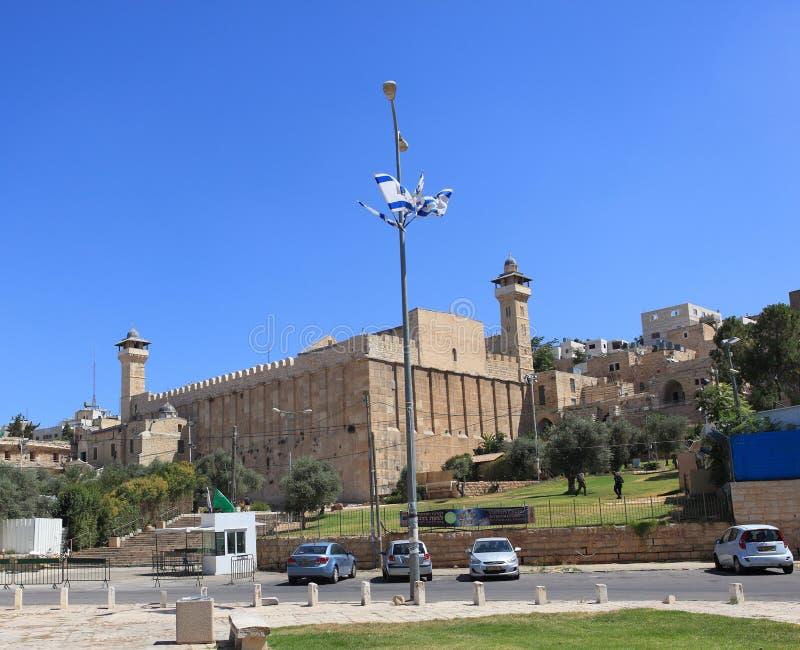 Vista della caverna dei patriarchi in Hebron fotografia stock