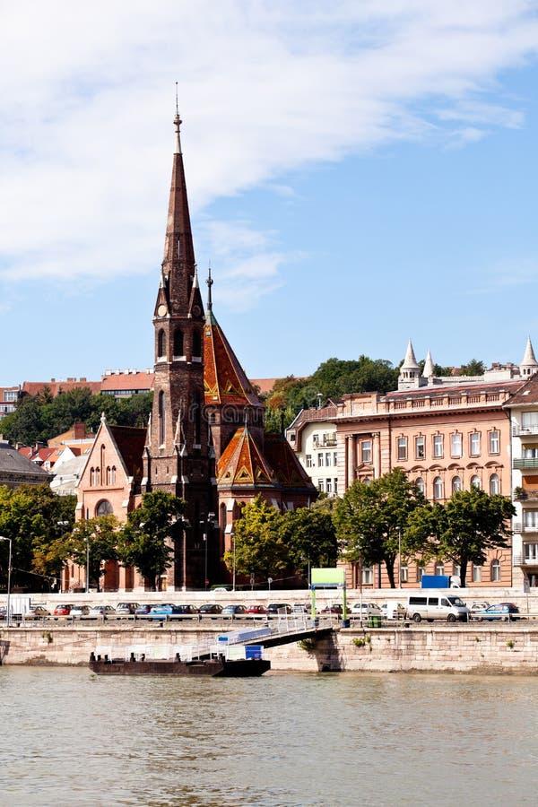 Vista della chiesa del calvinist a Budapest fotografia stock libera da diritti