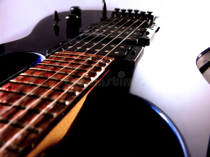 Vista della chitarra elettrica immagini stock libere da diritti
