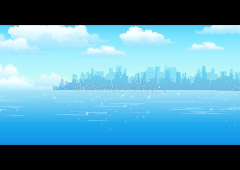 Vista della città illustrazione vettoriale