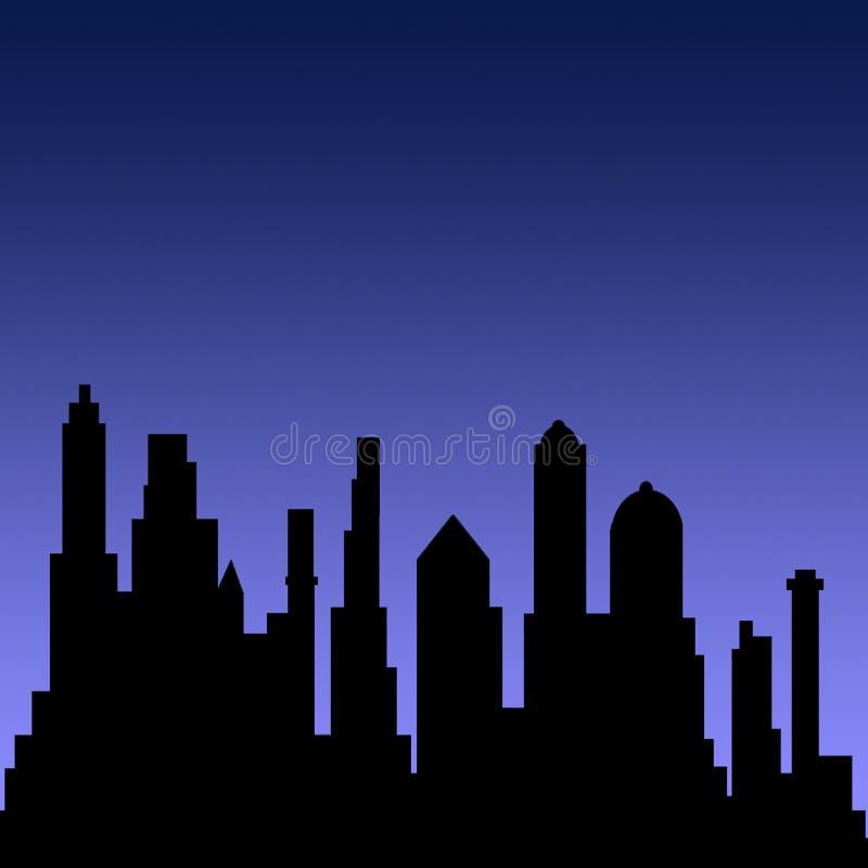 Vista della città royalty illustrazione gratis