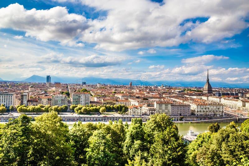 Vista della città centro-Torino, Italia di Torino fotografie stock libere da diritti