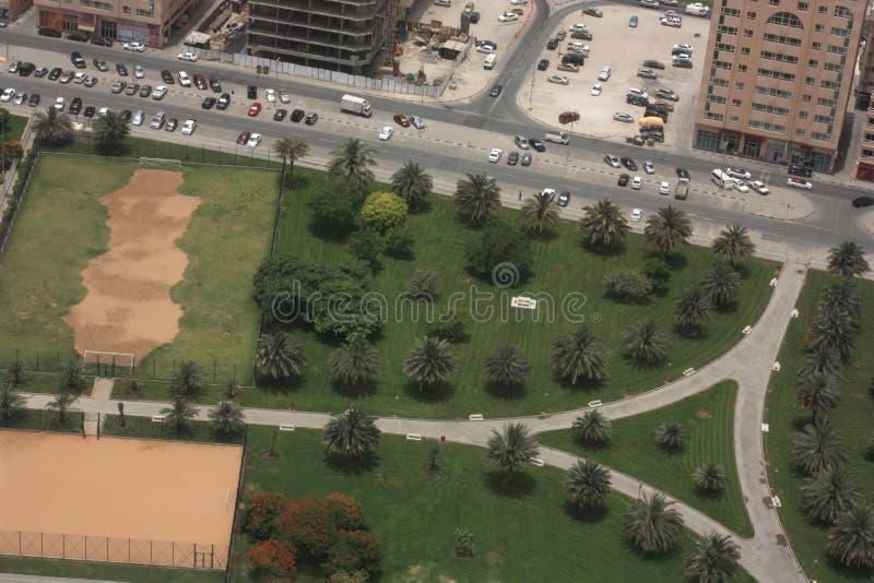 Vista della città del Dubai immagini stock libere da diritti